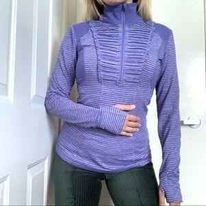 lululemon athletica Tops - Lululemon Athletica Ruffled Half Zip Pullover